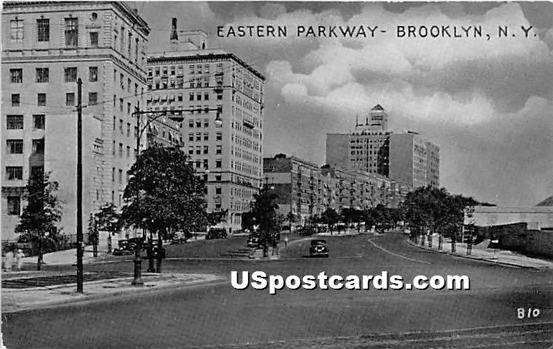 Eastern Parkway - Brooklyn, New York NY Postcard