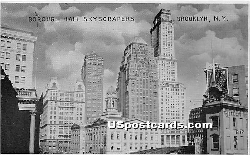 Borough Hall - Brooklyn, New York NY Postcard