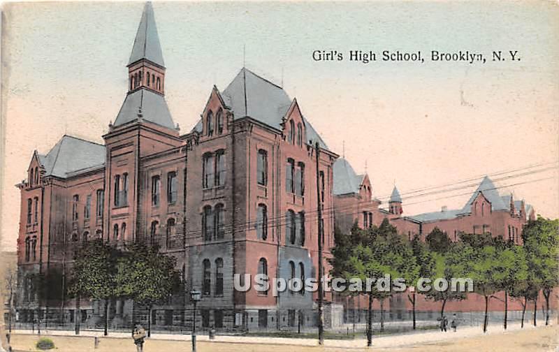 Girl's High School - Brooklyn, New York NY Postcard