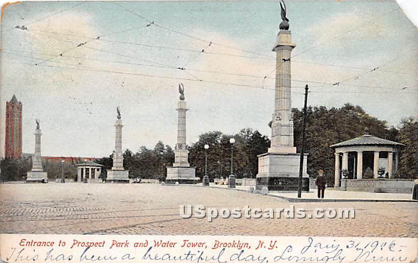 Prospect Park, Water Tower - Brooklyn, New York NY Postcard