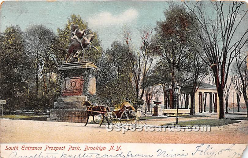 South Entrance, Prospect Park - Brooklyn, New York NY Postcard