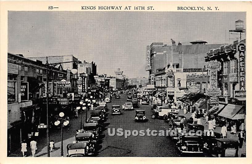 Kings Highway - Brooklyn, New York NY Postcard