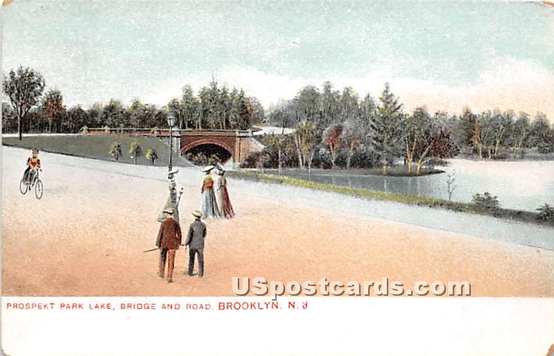 Prospect Park Lake - Brooklyn, New York NY Postcard
