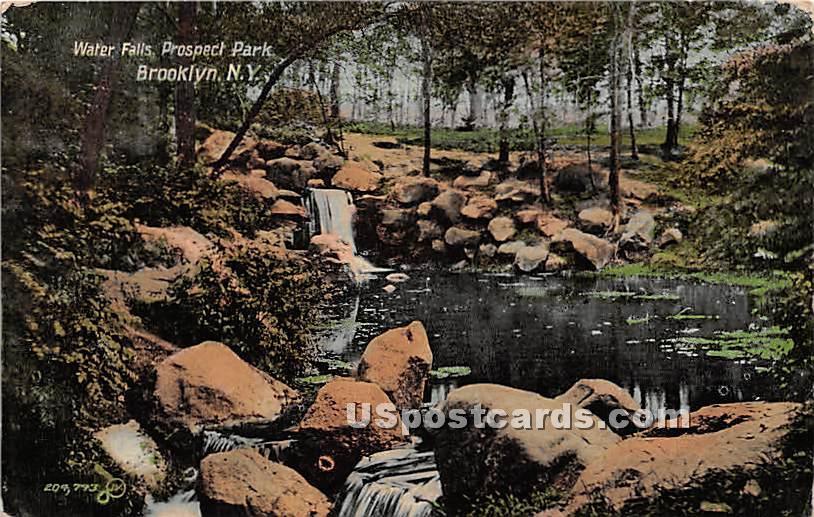 Water Falls, Prospect Park - Brooklyn, New York NY Postcard