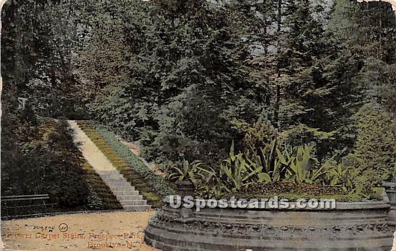 Flower Carpet Tairs, Prospect Park - Brooklyn, New York NY Postcard