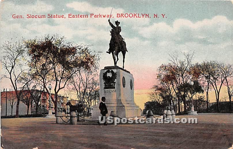 Gen Slocum Statue - Brooklyn, New York NY Postcard