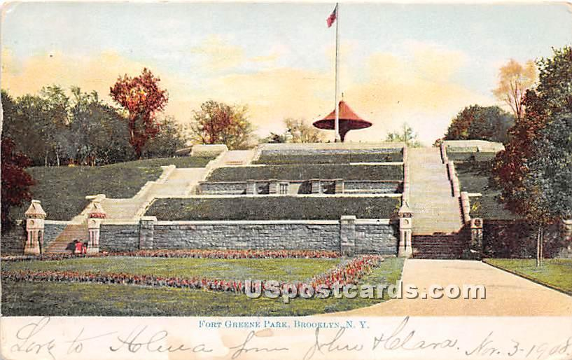 Fort Greene Park - Brooklyn, New York NY Postcard