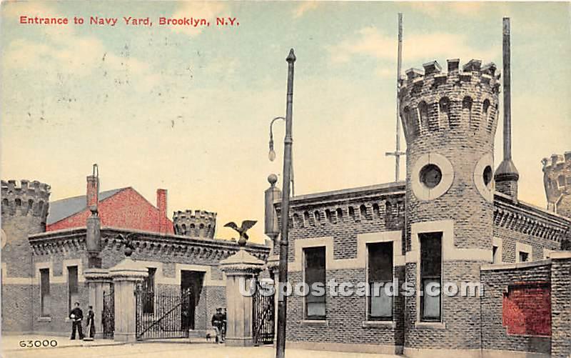 Navy Yard - Brooklyn, New York NY Postcard
