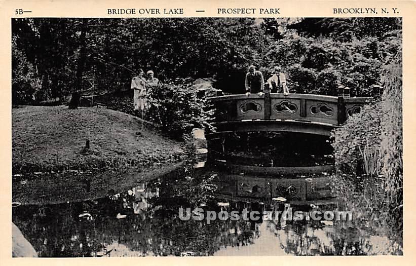 Bridge Over Lake, Prospect Park - Brooklyn, New York NY Postcard