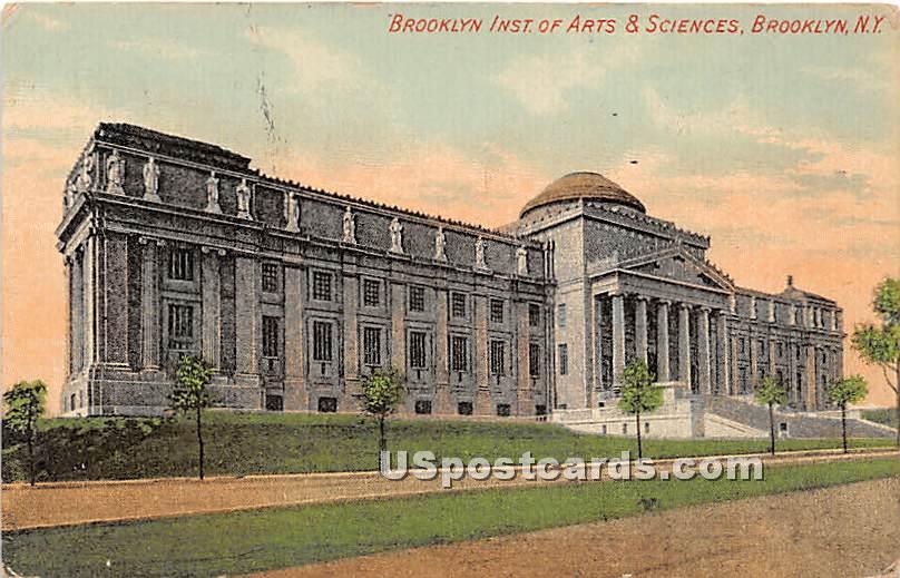 Brooklyn Institute Arts & Sciences - New York NY Postcard