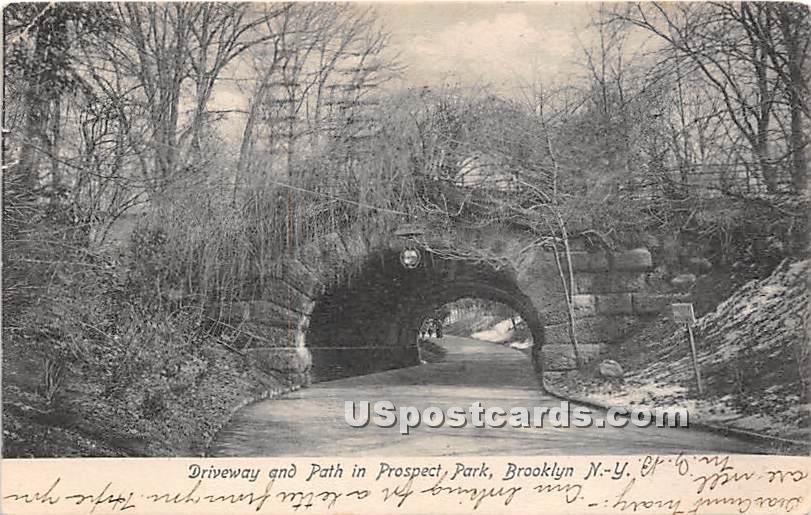 Driveway & Path, Prospect Park - Brooklyn, New York NY Postcard