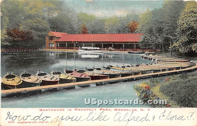 Boathouse, Prospect Park - Brooklyn, New York NY Postcard