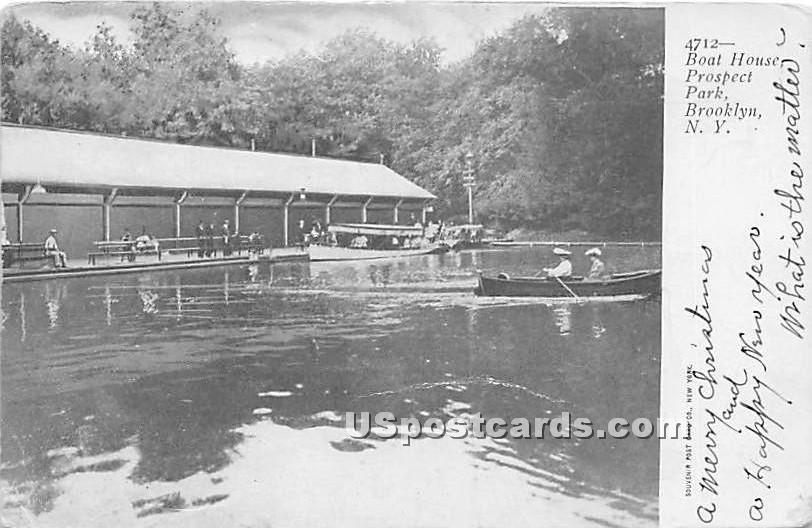 Boat House, Prospect Park - Brooklyn, New York NY Postcard