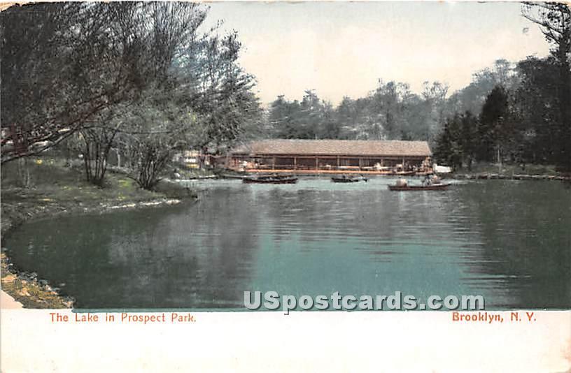 Lake, Prospect Park - Brooklyn, New York NY Postcard