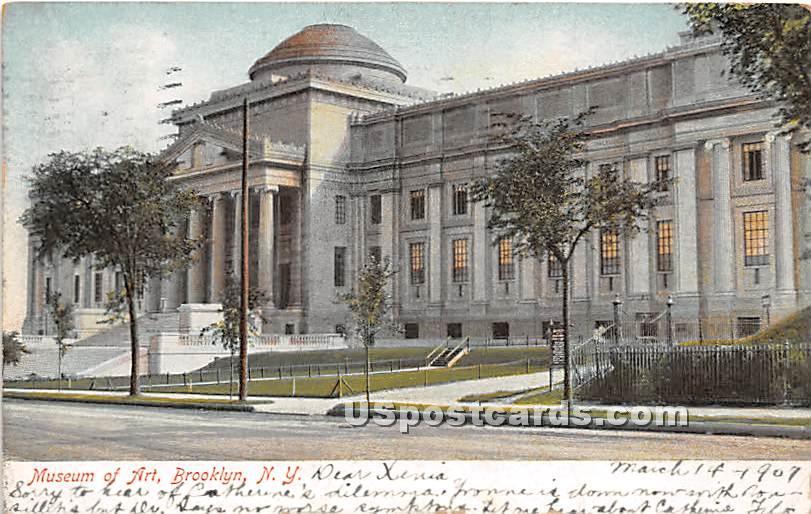 Museum of Art - Brooklyn, New York NY Postcard
