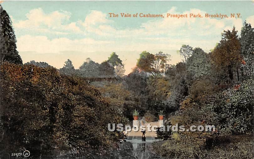 Vale of Cashmere, Prospect Park - Brooklyn, New York NY Postcard