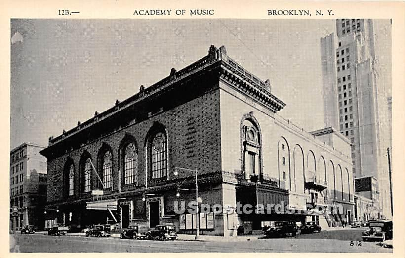 Academy of Music - Brooklyn, New York NY Postcard