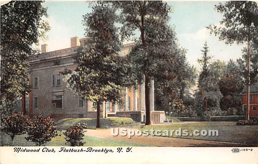 Midwood Club - Brooklyn, New York NY Postcard