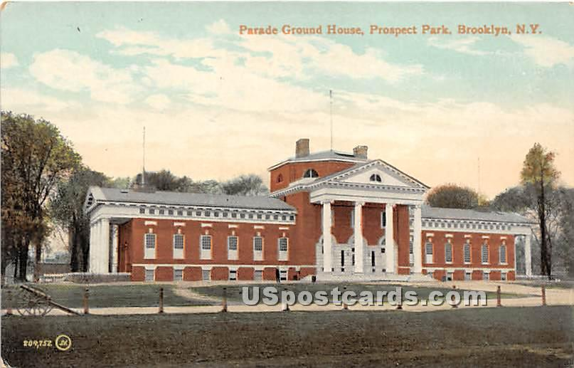 Parade Ground House, Prospect Park - Brooklyn, New York NY Postcard