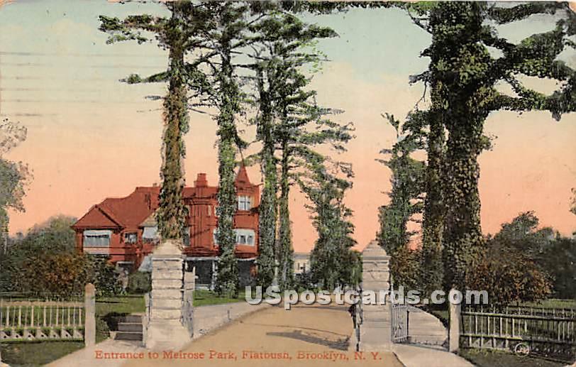 Melrose Park, Flatbush - Brooklyn, New York NY Postcard