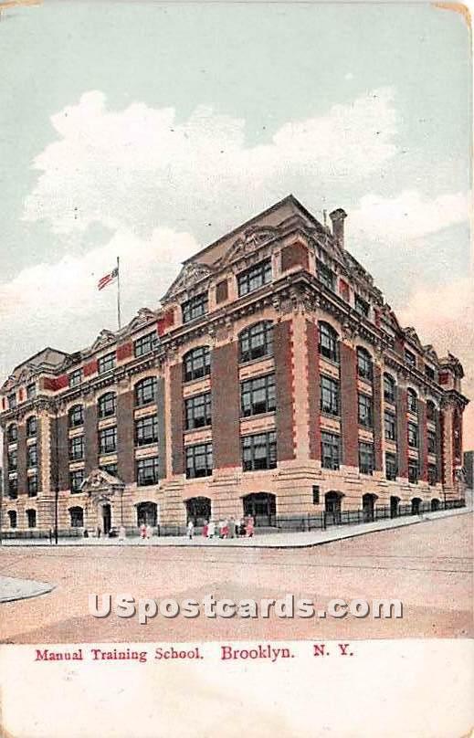 Manual Training School - Brooklyn, New York NY Postcard