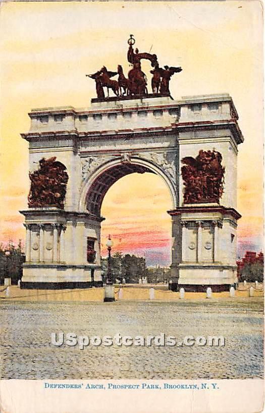 Defenders' Arch, Prospect Park - Brooklyn, New York NY Postcard