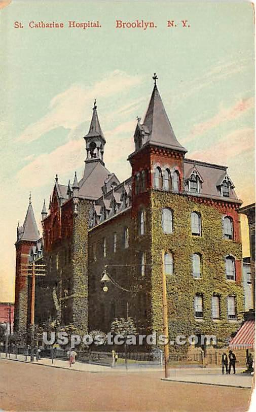 St Catharine Hospital - Brooklyn, New York NY Postcard