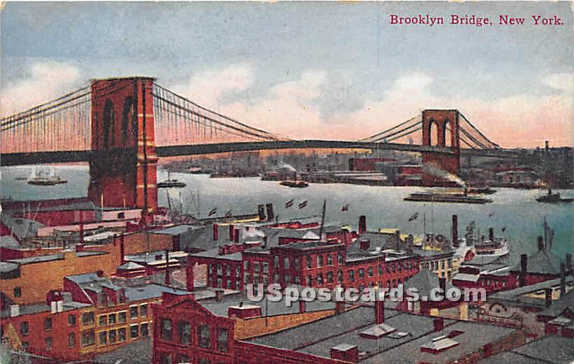 Brooklyn Bridge - New York NY Postcard