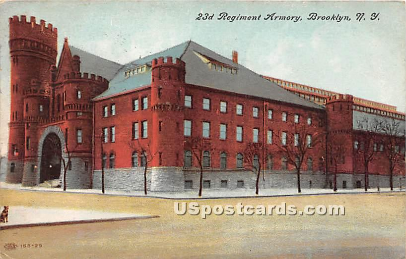 23rd Regiment Armory - Brooklyn, New York NY Postcard