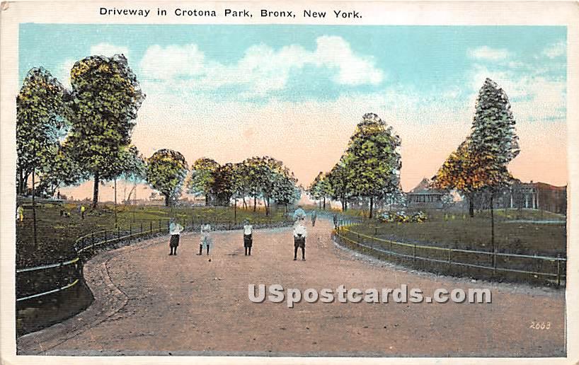 Driveway, Crotona Park - Bronx, New York NY Postcard