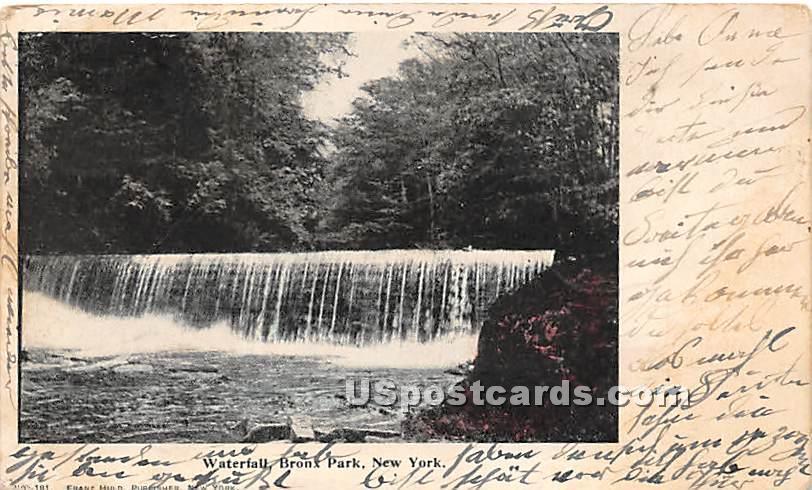 Waterfall - Bronx Park, New York NY Postcard