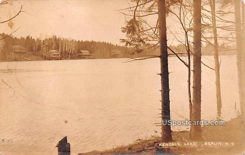 Kendall Lake - Berlin, New York NY Postcard