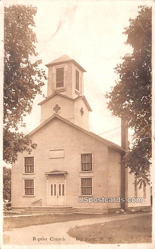 Baptist Church - Big Flats, New York NY Postcard