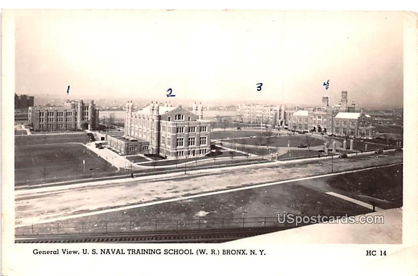 General View US Naval Training School - Bronx, New York NY Postcard