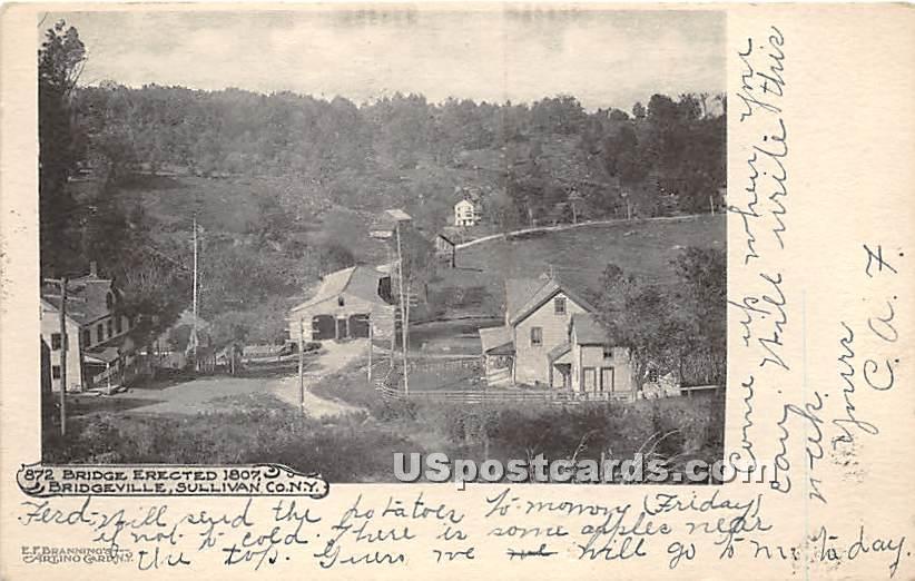 Bridge Erected 1807 - Bridgeville, New York NY Postcard
