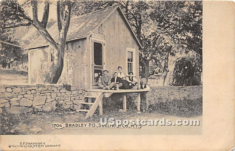 Bradley Post Office - Bridgeville, New York NY Postcard