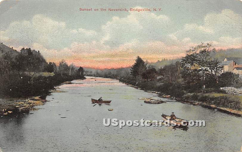 Sunset of Neversink - Bridgeville, New York NY Postcard