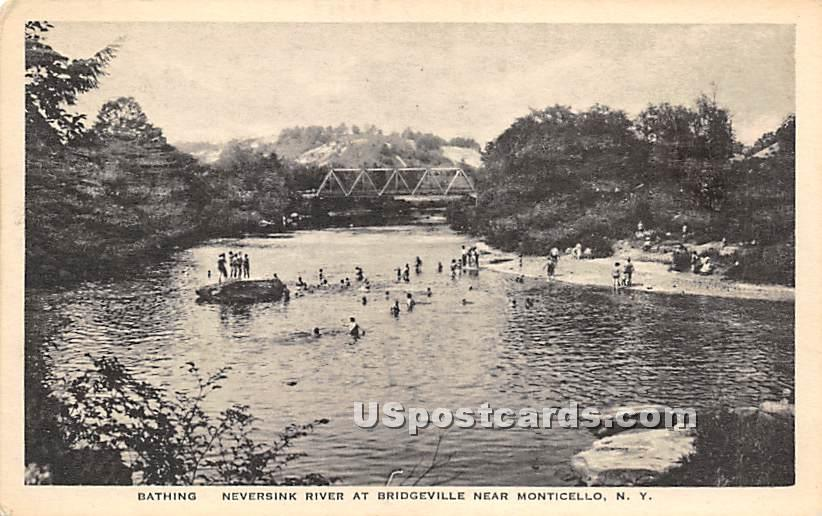 Bathing - Bridgeville, New York NY Postcard