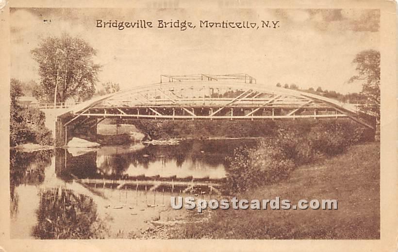 Bridgeville Bridge - New York NY Postcard