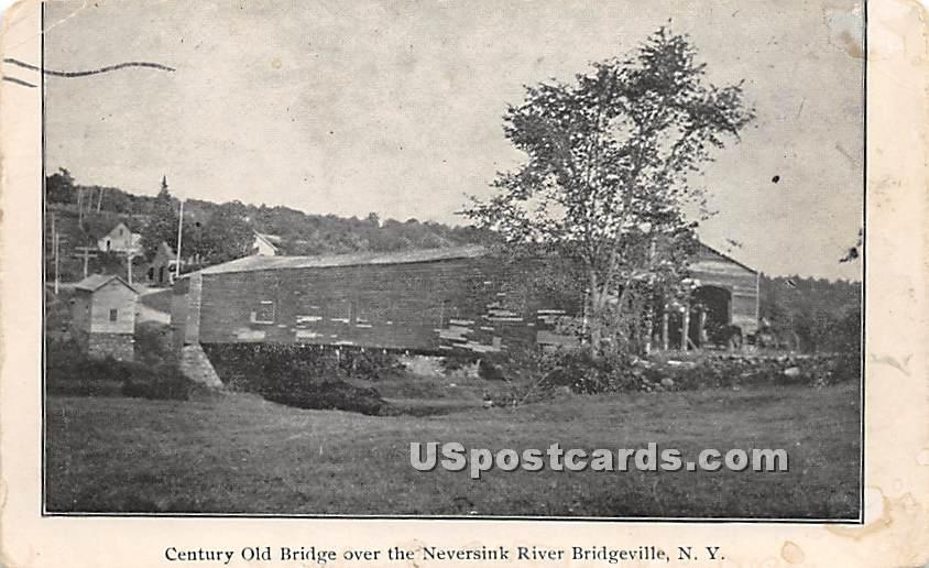 Century Old Bridge - Bridgeville, New York NY Postcard