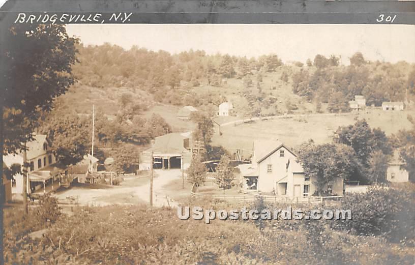 Birds Eye View - Bridgeville, New York NY Postcard