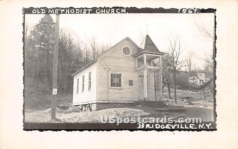 Old Methodist Church 1867 - Bridgeville, New York NY Postcard