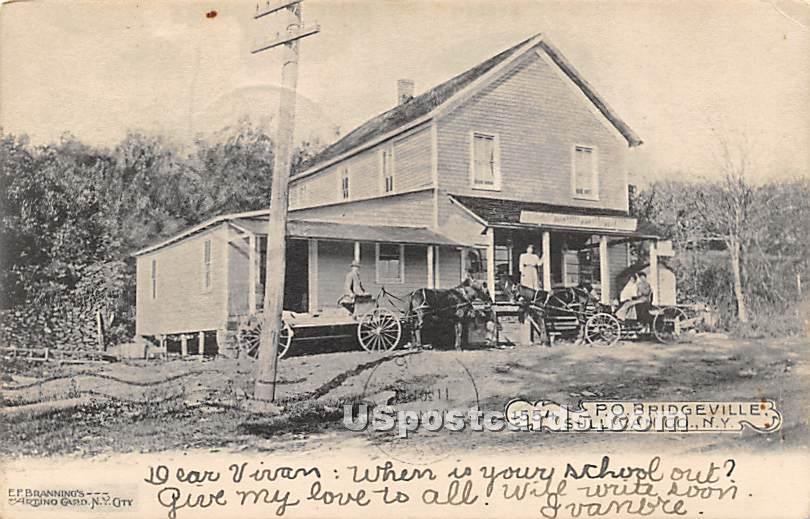 Post Office - Bridgeville, New York NY Postcard