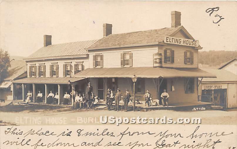 Elting House - Burlingham, New York NY Postcard