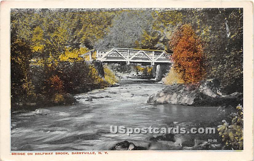 Bridge on Halfway Brook - Barryville, New York NY Postcard