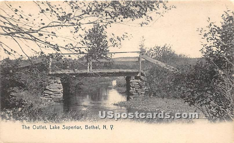 The Outlet - Bethel, New York NY Postcard