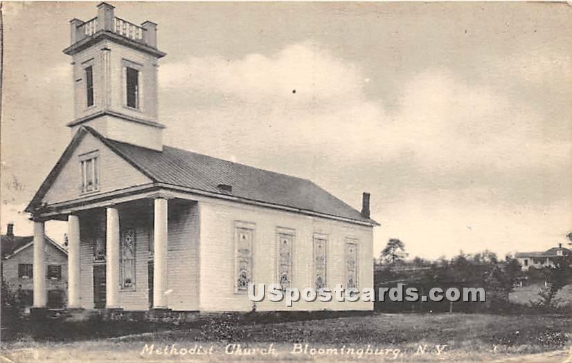 Methodist Church - Bloomingburg, New York NY Postcard