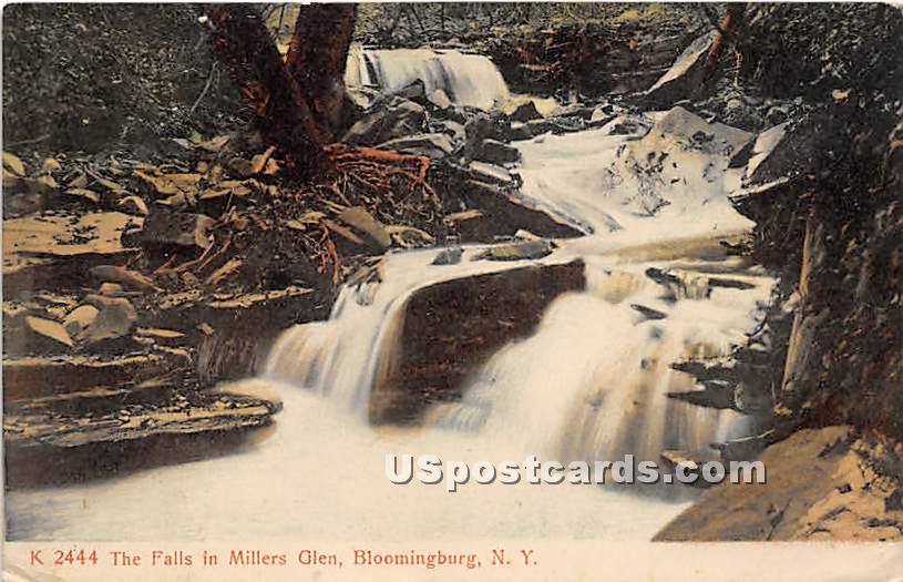 Falls in Millers Glen - Bloomingburg, New York NY Postcard