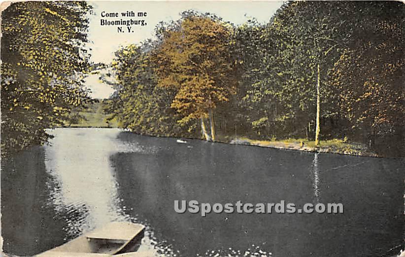 Lake View - Bloomingburg, New York NY Postcard