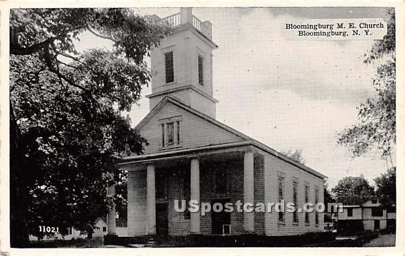 Bloomingburg M E Church - New York NY Postcard